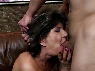 Grandmas suck and fuck hard cocks