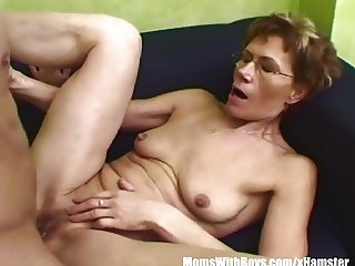 Slim Granny Gets Old Pussy Hammered By Young Cock