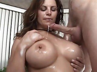 Tub Fun With A Big Tit Freak