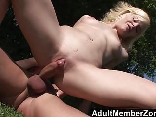 AdultMemberZone - Tiny Cheerleader Fucked Outside