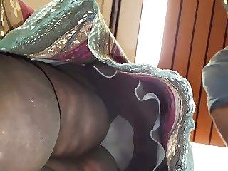 Black SSBBW Granny Upskirt