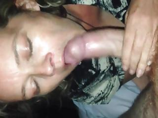 Horny wife gagging dick
