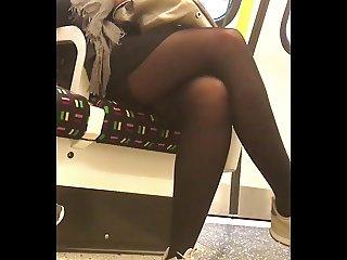 Office girl stocking tops