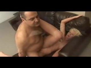 Chub daddy bear fucks blonde