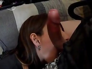 chick sucks balls and cock