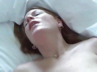 Amateur redhead blowjob, rimjob, fuck, facial pt.1