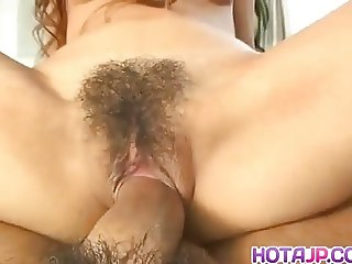 Japanese AV Model gets sperm in hairy ass