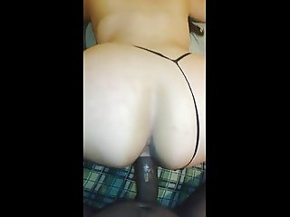 Big White Ass getting the Neighbor's Black Cock
