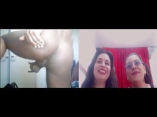 Two latinas humiliating me on cam