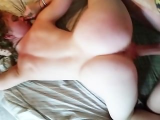 redhead sucking on big dick before getting fucked hard doggystyle