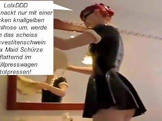 Sexy Latex Maid Mikaela Witt als Transvestitenschweine-Totpressluder