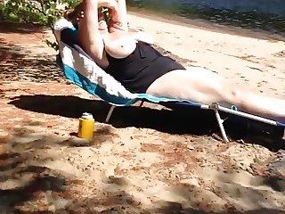 Big beach tits