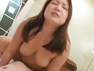 Japanese Mature cowgirl