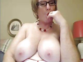 Big Mature clit and boobs