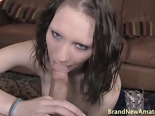 Teen girl sucks and rides cock pov on casting audition