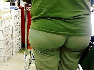 Big Ass Eating Wedgie Vpl at Ollies!
