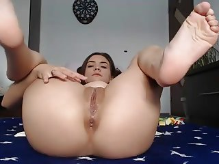 Pretty orgasm masturbation