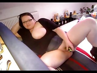 Hot fat BBW with creamy pussy Orgasming on cam for her FWB