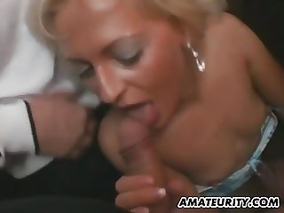 Amateur swinger Milf sucks and fucks in a dance club
