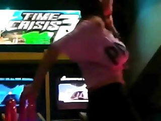 Busty dancing