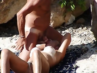Blowjob on the Greek beach.