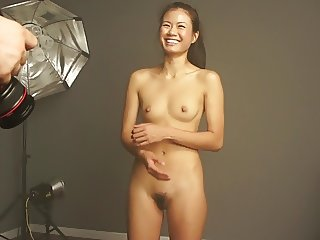 very pretty asian girl photo shooting