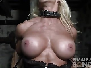 Muscular Jill Still Bound and Pissed Off