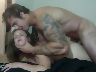 girl with big tits fucked by tattooed Jock