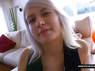Lora Row Gives POV Blowjob in the casting