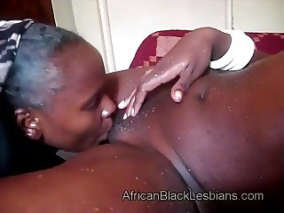 Naughty African lezzie has sharp tongue
