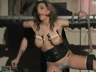 Hot mature Electro tortured