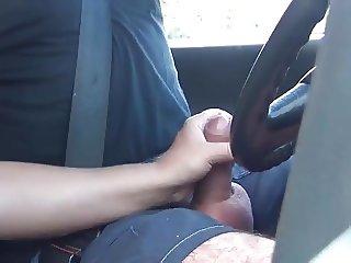 Handjob while driving (long version)