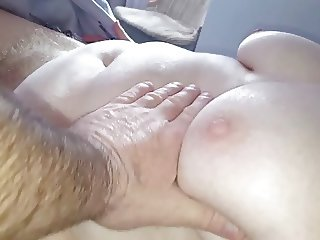 wifes naked body, hairy pussy,belly, tits