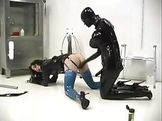 Hot Mistress having fun with her slave