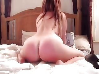 Cutie Spanks her Fat Ass Raw