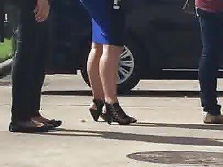 Hot latina tight skirt n big booty in public