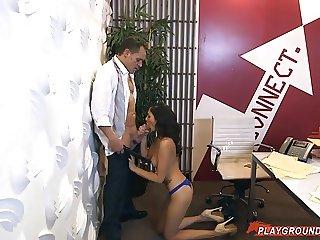 Boss Takes Advantage Of His Teen Secretary