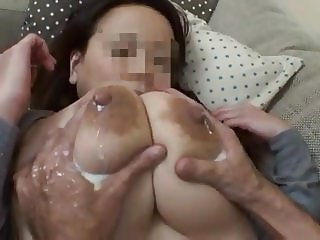 Wife's huge lactating boobs 3