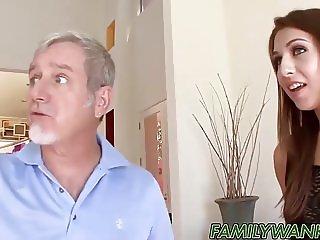 Naughty Ariana Grand seduces not stepdaddy into fucking her