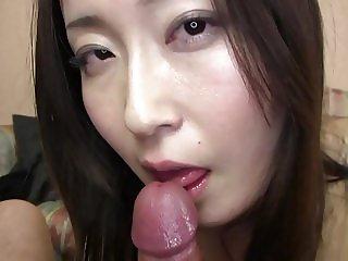Subtitled Japanese gravure model hopeful POV blowjob in HD