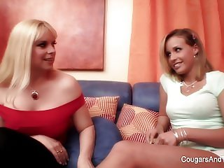 Sensual lesbian sex between two beautiful blondes