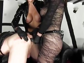 2 Busty Mistress,s Fucking A Slave