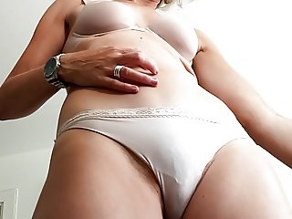 Spycam catches MILF wife in her panties - with CLOSE up