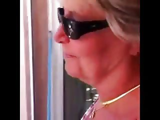 Hanging out with a teasing GILF