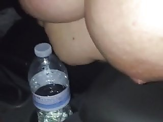 My friend stroking me in the car