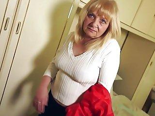 Petite grandma first time on cam