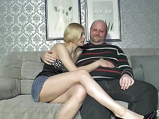 SextapeGermany - Amateur German eats cum in sextape lessons