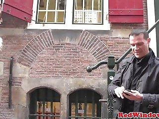 Dutch prositute cockriding for cash