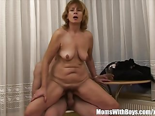 Cock Hungry Blonde Mama Fucked By young