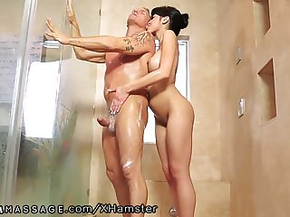 Nuru Massage Asian Slips and Slides on Client